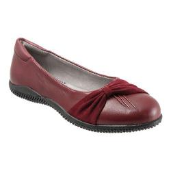 Women's SoftWalk Haverhill Dark Red Soft Nappa Leather/Suede