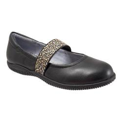 Women's SoftWalk High Point Black Soft Nappa/Studded