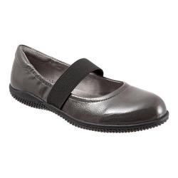 Women's SoftWalk High Point Dark Grey Crinkle Patent Leather