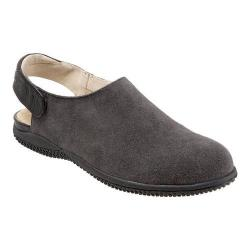 Women's SoftWalk Holland Slingback Graphite/Black Cow Suede/Smooth Leather
