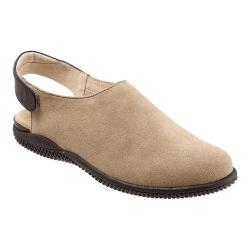 Women's SoftWalk Holland Slingback Sand/Dark Brown Cow Suede/Smooth Leather