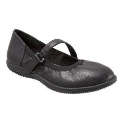 Women's SoftWalk Hollis Mary Jane Black Soft Tumbled Leather