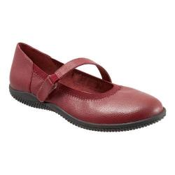 Women's SoftWalk Hollis Mary Jane Dark Red Soft Tumbled Leather