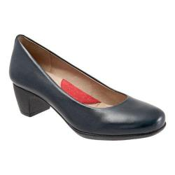Women's SoftWalk Imperial Pump Navy Burnished Soft Kid