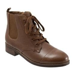 Women's SoftWalk Miller Boot Cognac Soft Wax Tumbled Leather