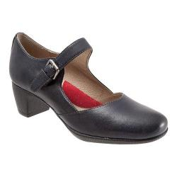 Women's SoftWalk Irish Mary Jane Navy Veg Kid Leather
