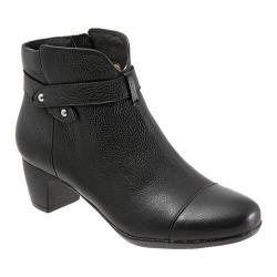 Women's SoftWalk Ivanhoe Black Veg Tumbled Leather