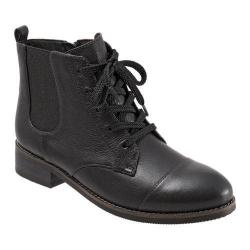 Women's SoftWalk Miller Boot Black Soft Wax Tumbled Leather