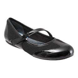 Women's SoftWalk Nadia Black Patent Leather/Mesh Fabric