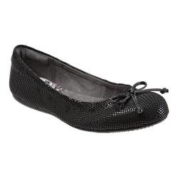 Women's SoftWalk Narina Black Mini Dot Patent Suede