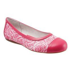 Women's SoftWalk Napa Flat Pink Rose Fabric/Smooth Leather