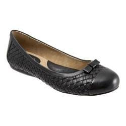 Women's SoftWalk Naperville Black Woven Soft Nappa Leather