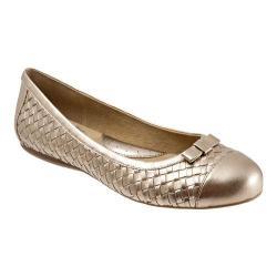 Women's SoftWalk Naperville Goldwash Metallic Woven Soft Nappa Leather