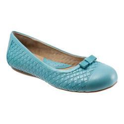 Women's SoftWalk Naperville Ocean Blue Woven Soft Nappa