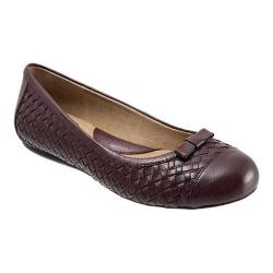 Women's SoftWalk Naperville Oxblood Woven Soft Nappa Leather