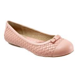 Women's SoftWalk Naperville Pale Pink Woven Soft Nappa