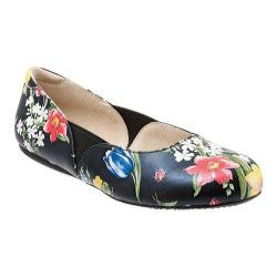 Women's SoftWalk Norwich Midnight Florial Printed Leather