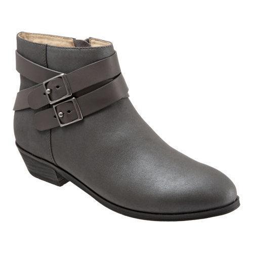 Women's SoftWalk Rancho Boot Graphite Distressed Nubuck/Nappa Soft  Leather