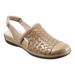 Women's SoftWalk Salina Woven Cement Burnished Veg Kid Leather