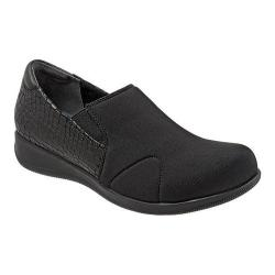 Women's SoftWalk Tilton Black Stretch/Croco Embossed/Burnished Kid