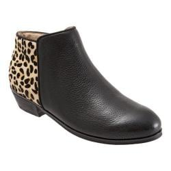 Women's SoftWalk Rocklin Boot Black/Tan Soft Tumbled Leather/Leopard