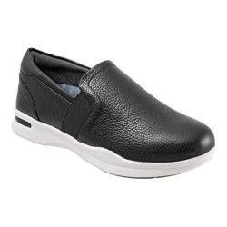 Women's SoftWalk Vantage Premium Slip On Black Nappa Tumbled Leather