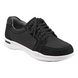 Women's SoftWalk Vital Lace Up Black Ballistic Nylon/Cow Suede Leather