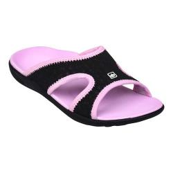 Women's Spenco Breeze Slide Black/Pink Mesh