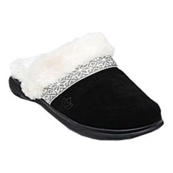 Women's Spenco Nordic Slide Slipper Black Suede