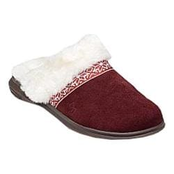 Women's Spenco Nordic Slide Slipper Bordo Suede
