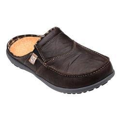 Women's Spenco Siesta Slide Leather Dark Chocolate Leather
