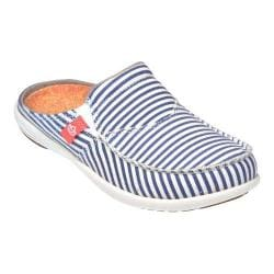 Women's Spenco Siesta Slide Montauk True Navy Washed Canvas