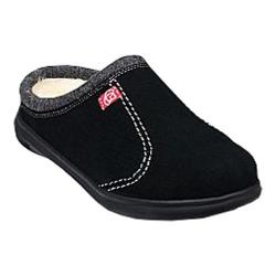 Men's Spenco Supreme Slide Slipper Black Suede