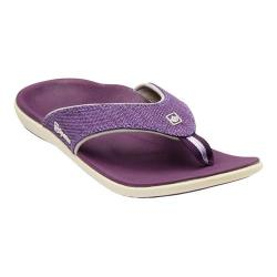 Women's Spenco Yumi Canvas Sandal Deep Purple Canvas