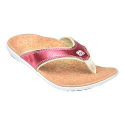 Women's Spenco Yumi Metallic Sandal Salmon
