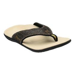 Women's Spenco Yumi Sandal Black Gold Canvas