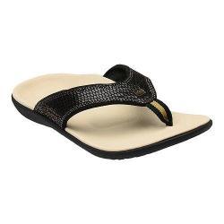 Women's Spenco Yumi Sandal Black Snake