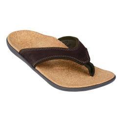 Men's Spenco Yumi Sandal Dark Brown Leather