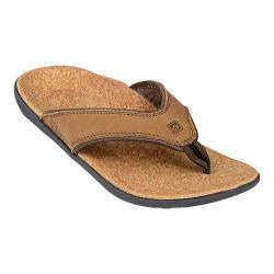 Men's Spenco Yumi Sandal Medium Brown Leather