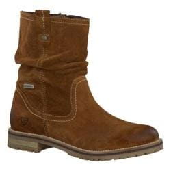 Women's Tamaris Alice Waterproof Boot Muscat Velour Leather