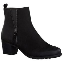 Women's Tamaris Campsis Ankle Boot Black Combination Leather/Synthetic
