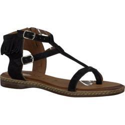 Women's Tamaris Weave Sandal Black Suede Leather | Shopping The Best Deals on Sandals