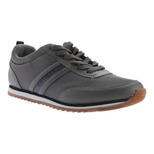 471490f30243e Shop Men s Tommy Hilfiger Fonzie Sneaker Grey Plain Pu Navy - Free ...