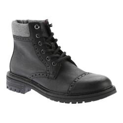 Men's Tommy Hilfiger Herbie Boot Black Vegas Pu/Grey Flannel