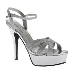 Women's Touch Ups Cori Platform Sandal Silver Shimmer