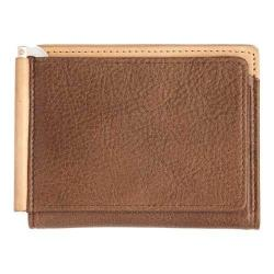 Men's Trafalgar Gramercy Park Triple Flip Clip Wallet Brown