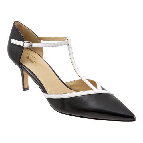 ... Women's Shoes; /; Women's Heels. Women's Trotters Amelia Black/White  Glazed Kid/Soft Patent