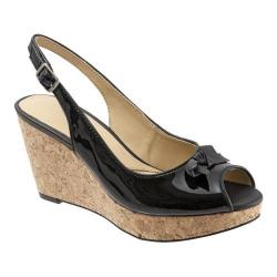 Women's Trotters Allie Black Soft Patent/Nappa