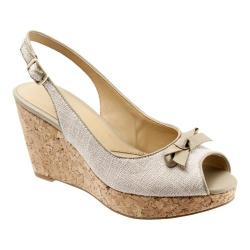 Women's Trotters Allie Natural Linen/Nappa