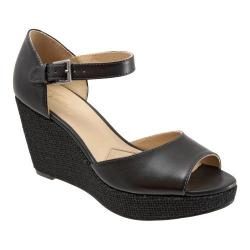 Women's Trotters Amber Black Dull Leather